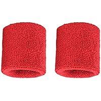 1 par de brazaletes de algodón Puro para Hombres, Mujeres, muñequeras, muñequeras para Tenis Deportivo