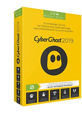 Cyberghost 2019 - 3 PCs / 1 Jahr|2019|3 PCs / 1 Jahr|12 Monate|PC, Laptop, Tablet, Handy|Disc|Disc (Britischen Tv)