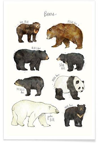 JUNIQE® Poster 40x60cm Bären Kinderzimmer & Kunst für Kinder - Design