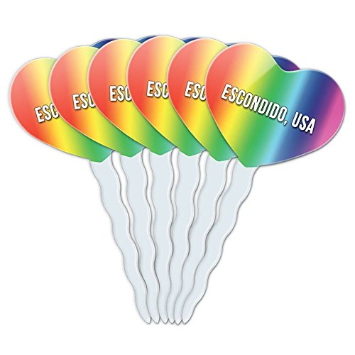 rainbow-heart-love-set-of-6-cupcake-picks-toppers-decoration-city-country-da-fu-escondido-usa