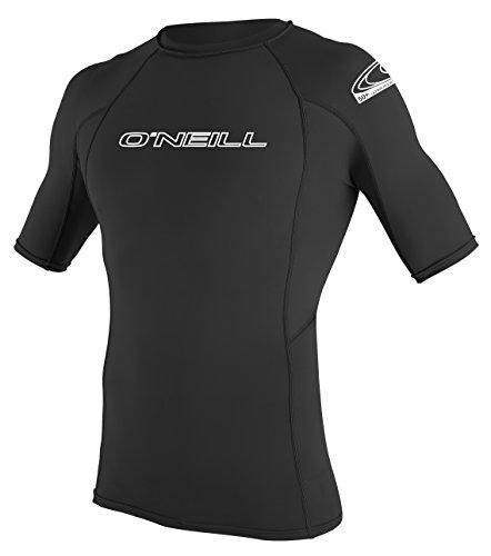 ONEILL WETSUITS Herren Uv Schutz Basic Skins S/S Crew Rash Vest, Black, XS