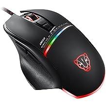 KLIM Skill Mouse da Gioco ad Alta Precisione, Mouse per Gamer USB- NUOVO – DPI Regolabile – Tasti Programmabili – Presa comoda per mani di tutte le dimensioni – Presa eccellente - Nero