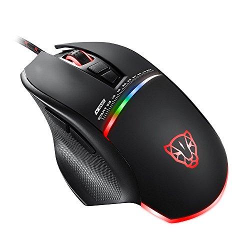 KLIM Skill Mouse da Gioco ad Alta Precisione, Mouse per Gamer USB- NUOVO - DPI Regolabile - Tasti Programmabili - Presa comoda per mani di tutte le dimensioni - Presa eccellente - Nero