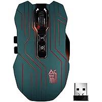 funnytoday3659D 8Tasten Lasermaus optisch 2,4G Wireless Gaming Maus Mäuse + USB-Empfänger für Computer Laptop Geschenke