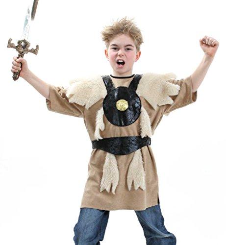 KarnevalsTeufel Kinderkostüm Barbar Wikinger Nordmensch Krieger Eroberer Germane Kostüm für Kinder Gr 128 - 164 (164) (Wikinger Krieger Kinder Kostüm)