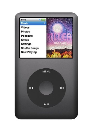 Apple iPod Classic 160 GB Schwarz (Aktuelles Modell) MP3 Musik Player - Mp3 Ipod Apple