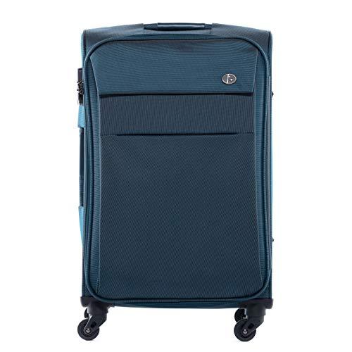 FERGÉ Trolley bagaglio a mano viaggio Calais - Valigia rigida valigetta bagaglio cabina 4 ruote girevole blu