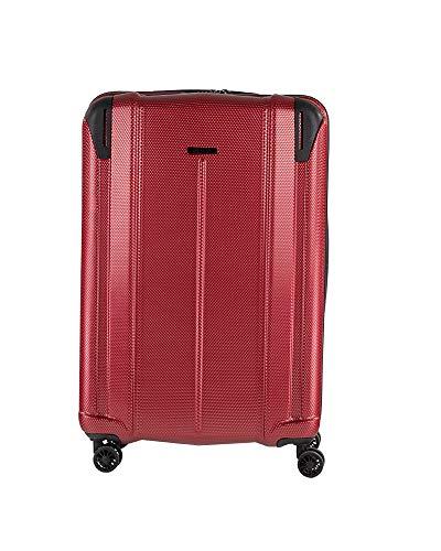 NOWI Vacation XL ABS-Hartschale Trolley Reisekoffer Gepäck TSA Schloss 4 Doppel-Rollen 85L Volumen (rot)