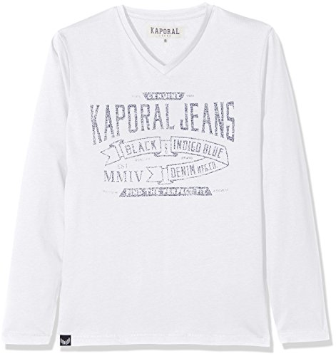 Kaporal NARK T-Shirt Garçon Blanc (Optical White) 10 Ans (Taille Fabricant: 10A) Lot d