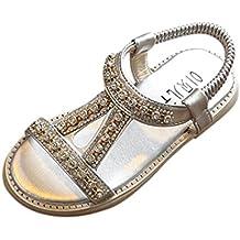 854a6d86a Sandalias bebe niño niña Xinantime Verano Sandalias para bebés Sandalias de  playa Crystal Zapatos de princesa