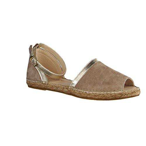 Macarena Duma-Scarpe da donna scarpa/Sling, Beige, in pelle, beige (Beige), 41 EU