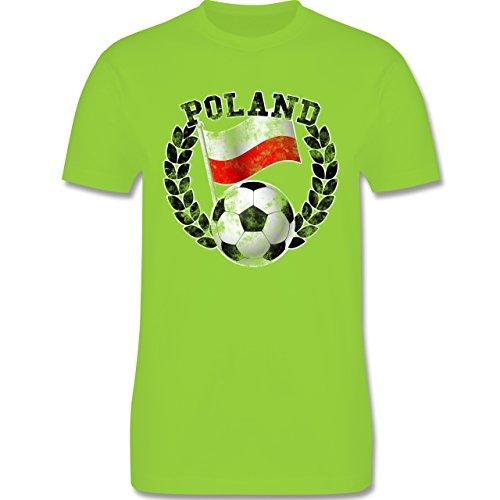 EM 2016 - Frankreich - Poland Flagge & Fußball Vintage - Herren Premium T-Shirt Hellgrün