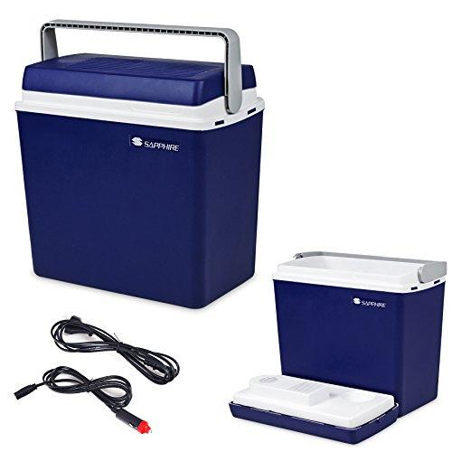 Kühlbox 25L Kühltasche CAMPINGKÜHLBOX AUTOKÜHLBOX 12V/230V Sapphire SG-01 Gratis (Blau)