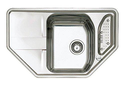Teka 12131021 45E Stena modessimple - MTX acero inoxidable - recipiente fregadero gris