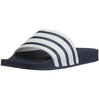 adidas Originals ADILETTE G16220, Unisex - Erwachsene Bade Sandalen, Blau (ADIBLUE / WHITE / ADIBLUE),43 EU (9 UK)