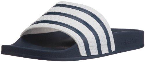 adidas - Adilette, Scarpe da spiaggia e da doccia Unisex – Adulto Blu (Adiblue/white/adiblue)