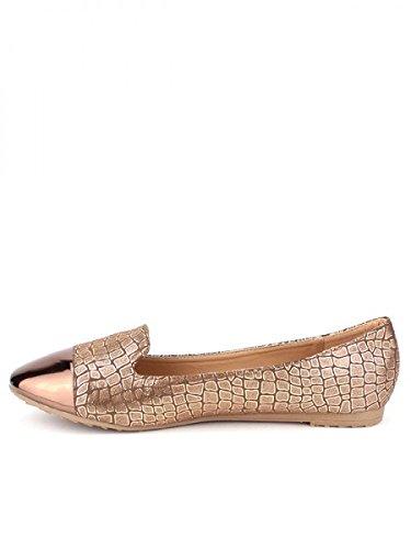 Cendriyon, Ballerine façon Ecailles Bronze LIA Chaussures Femme Bronze