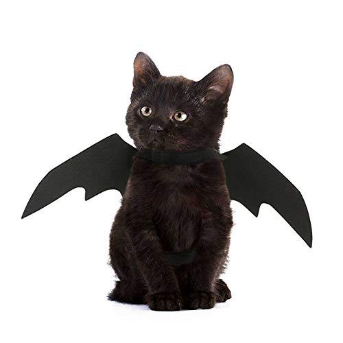 TizzyPet Halloween Fledermausflügel Haustier Cosplay Kostüm Zubehör für Hunde und Katzen