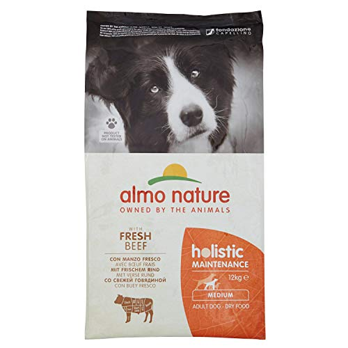 Almo Nature -Holistic dog adult medium mangime secco gusto manzo e riso kg.12