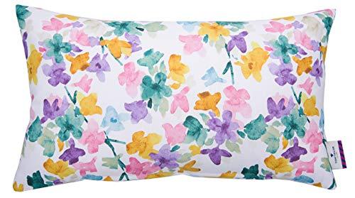 TOM TAILOR T-Petite Flowers Kissenhülle, Baumwolle, Multi/weiß, 30 x 50 cm -