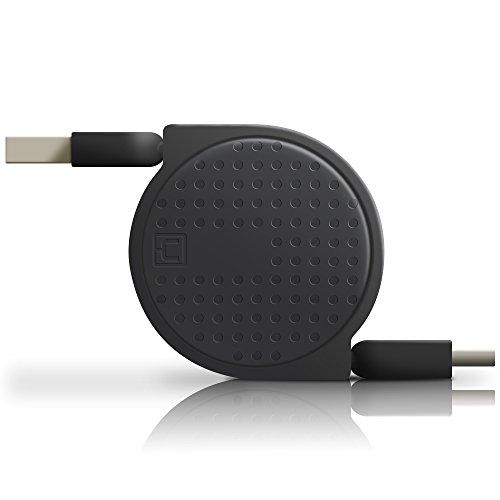 Câble rétractable USB C,ACOCOBUY Type C vers USB 3.0 Extension câble de Charge Rapide câble pour Sumsung s8 s9,OnePlus 3 Lumia 950 Nexus 5 x