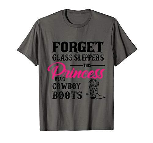 Womans Cowgirl Cowboy Boots für Mädchen T-Shirt (Mädchen Weißen Cowboy-stiefel)