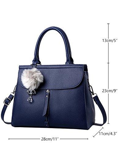 Menschwear Damen PU Handtaschen Damen Handtasche Schwarz Handtasche Schule Damen Handtaschen Rot-wien Blau