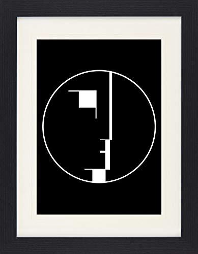 1art1 116939 Oskar Schlemmer - Staatliches Bauhaus, Logo, 1922 Gerahmtes Poster Für Fans Und...