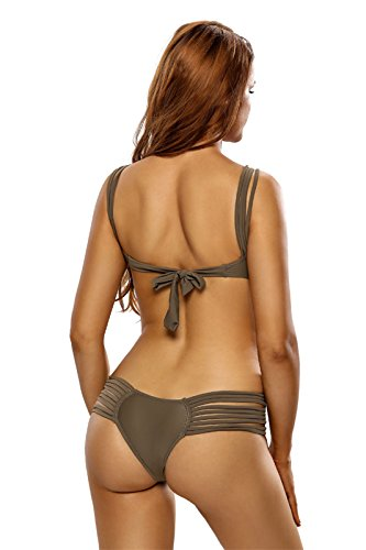 One Piece Spaghetti Strap Hollow Out Front Ladder Cut Out Side