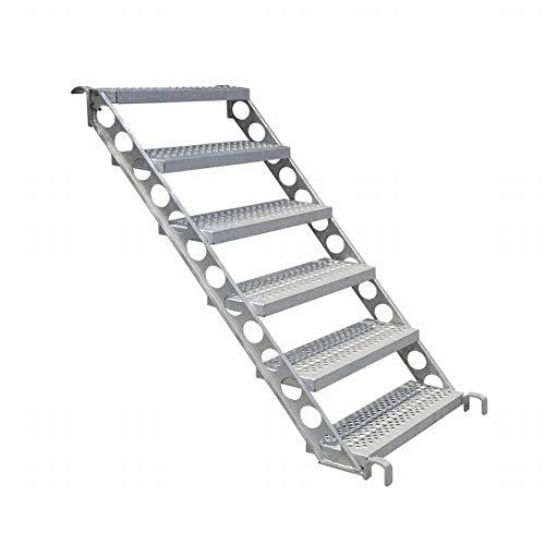 Bautreppe, Baustellentreppe, Außentreppe f. 1 m Höhe, 45 Grad 80 cm breit