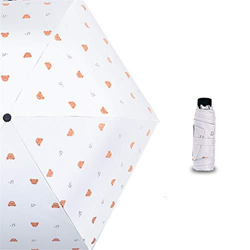 JUNDY Mini Regenschirm Taschenschirm Faltbar Ultralight, Leicht Klein Automatisch Anti-UV Sonnenschirm, Sonnenschirm frischen Regenschirm Mini colour3 88cm