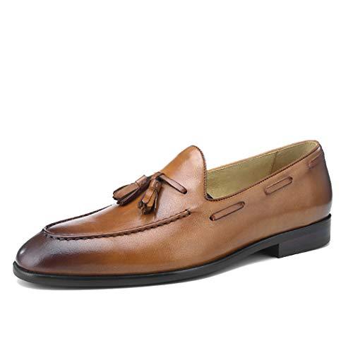 MYXUAA Herren Loafers Business Schuhe Breathable Fashion Classic Style Freizeitschuhe Driving Schuhe Papa Schuhe-brown-EU37/US5.5-6/UK4.5-5 -