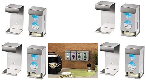 TASSIMO WANDHALTERUNG FÜR 8 Karton acht Wandhalterungen für jeweils eine Tassimo-Original-Verpackungen •Platzsparend •Einfache Montage •Beliebig Erweiterbar •Hochwertiges Metall T-disc Carousel