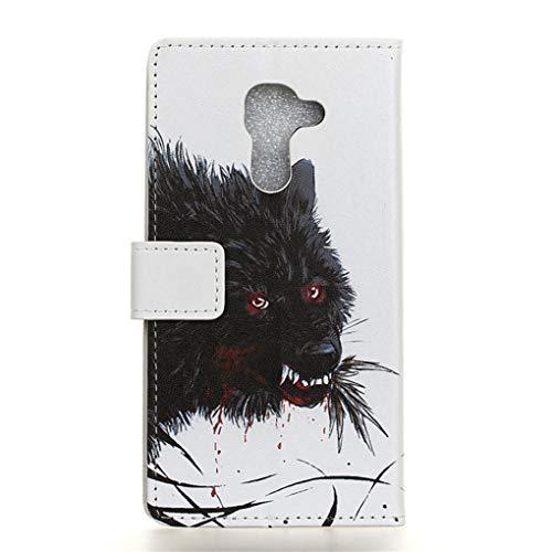 Für BlackBerry DTEK60 Hülle, Premium PU Leder Schutztasche Klappetui Brieftasche Handyhülle, Standfunktion Flip Wallet Case Cover