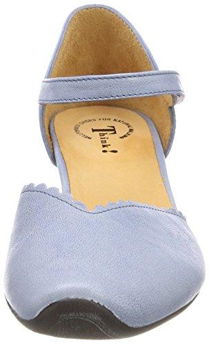 Think Aida_282249, Scarpe con Cinturino Alla Caviglia Donna Blu (Cristal 78)