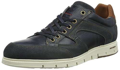 Dockers by Gerli 39se001-211663, Baskets Basses Homme Bleu - Blau (Navy/Braun 663)