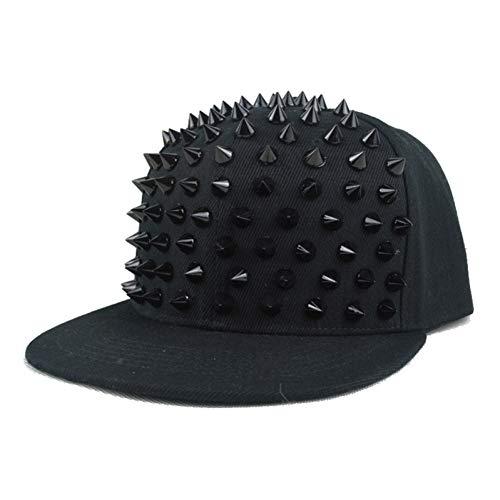 MAOZIJIE Unisex Punk Igel Mütze Persönlichkeit Jazz Snapback Spike Nieten Spiky Baseball Cap Für Hip Hop Rock Dance