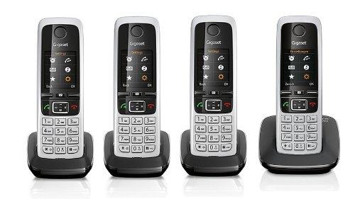 Gigaset C430 / C 430 QUATTRO schwarz mit insgesamt 4 Mobilteilen