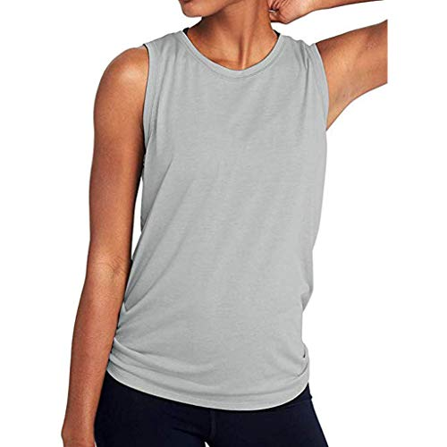 Chaleco Deportivo para Mujer,riou Malla de Mujer sin Costuras Atada Yoga  Chaleco Color sólido f5f8be02d