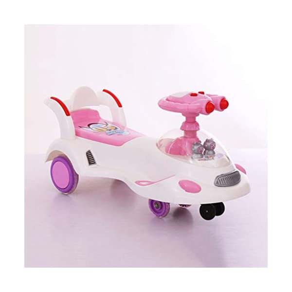 Twist car Swing car Children's 1-3-6 Years Old Men And Women Baby Universal Wheel Yo Car With Music Swing Car Baby Scooter FANJIANI (color : Pink, Size : Silent wheel) Twist car ▶Tip: The delivery time of the product is 8-15 days, If you have any questions, please feel free to contact us ▶Environmental PP material, non-toxic, no odor, corrosion resistance, high temperature resistance, resistance to falling, shockproof, baby play more assured ▶ Let the baby stimulate the left and right brains by grasping, promote the development of the cerebellum, support the leg strength of the lower body, maintain the stability of the body's center of gravity, and exercise the balance of the baby. 3