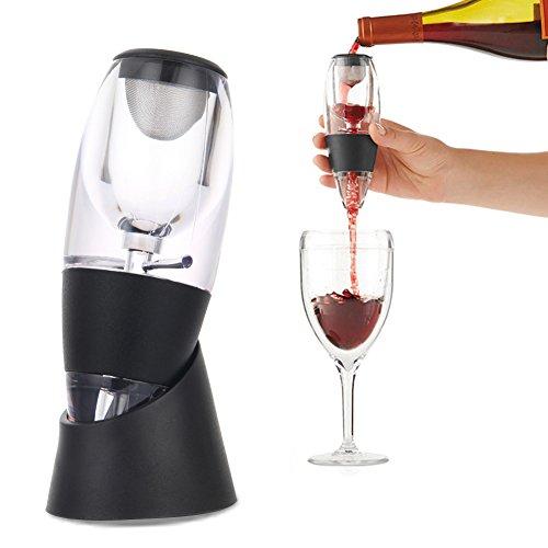Majome Mode Wein Belüfter Dekanter Set Familie Party Hotel Schnelle Belüftung Weinausgießer Magie...