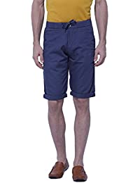 BEEVEE Mens M Grey Solid Three-fourth Length Shorts, Cotton Fabric,elasticated Waistband With Drawstring,has TWO...