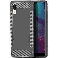 Flymaff - Funda para Huawei P20 (Incluye Protector de Pantalla de Cristal, absorción de Golpes, Poliuretano termoplástico y Poliuretano termoplástico), Color Negro