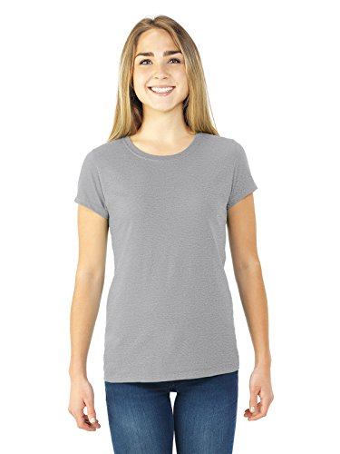 Ladies' 4.7 oz. Sofspun� Jersey Junior Crew T-Shirt ATHLETIC HEATHER 3XL