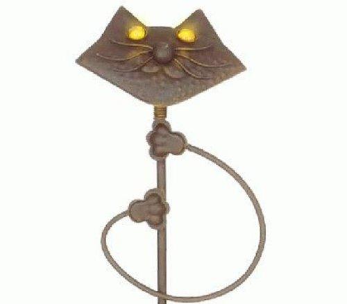 LED Solarleuchte Katze Solarfigur Gartendekoration aus Metall Solarlampe Dekoleuchte
