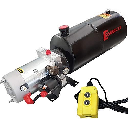 Hydraulikaggregat Casuroc 2.0, Hydraulikpumpe 12 V 180 bar 2000 Watt mit 8 Liter Stahltank