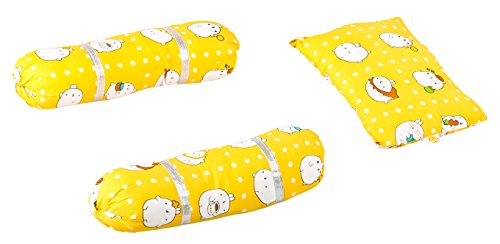 Baybee Baby Pillow and Bolster Set (Pink) (Yellow)