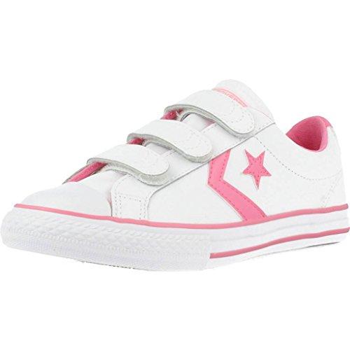 Converse Lifestyle Star Plyr 3v Ox, Scarpe da Ginnastica Basse Unisex-Bambini, Multicolore (White/Pink 188), 28 EU