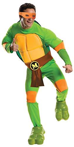 Michelangelo Teenage Turtles Mutant Deluxe Ninja Kostüm - Teenage Mutant Ninja Turtles Deluxe Michelangelo Adult Costume X-Large