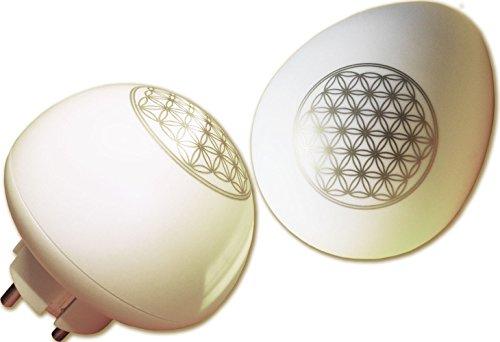 harmonei® - Stecker mit Blume des Lebens, Elektrosmog-Schutz bei Elektrosensibilität und Elektrostress, Schutz vor Elektro-magnetischer Strahlen im Wohnbereich, auch bei Radioaktivitätsbelastungen